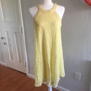 Betsey Johnson | Yellow Halter Lace Dress